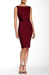 Zac Posen Gwen Sheath Dress Red