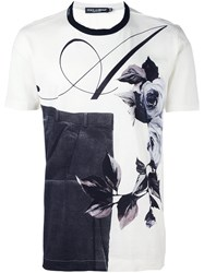 Dolce And Gabbana Multi Print T Shirt Nude And Neutrals