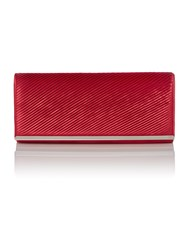 Linea Satin Clutch Crimson