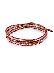 Chan Luu Mother Of Pearl Wrap Bracelet Pink