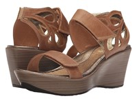 Naot Footwear Intrigue Latte Brown Leather Gold Leather Women's Sandals Tan