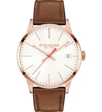 Coach 14602095 Metropolitan Stainless Steel And Leather Watch