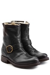Fiorentini Baker And Fur Lined Leather Ankle Boots Black