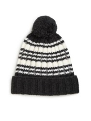 Gucci Ghira Wool Pom Pom Hat Black White