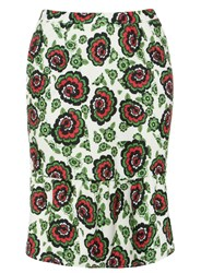 Evans Plus Size Clements Rebeiro Skirt Multi Coloured