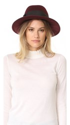 Kate Spade Fedora With Grosgrain Bow Midnight Wine