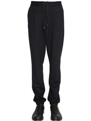 Emporio Armani Stretch Wool Blend Jersey Jogging Pants
