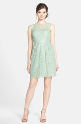 Women's Jenny Yoo 'Harlow Lyon' Gilded Lace Dress Vintage Teal Gold