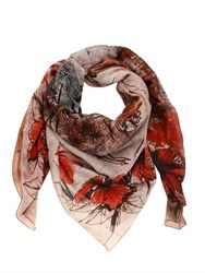 Dmd Helmets Island Printed Cotton And Silk Blend Scarf