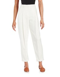 Dkny Pleated Cropped Pants Chalk