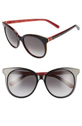 Bobbi Brown Women's 'The Lucy' 54Mm Sunglasses Black Red Black Red