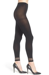 Chelsea 28 Women's Chelsea28 Mesh Band Footless Tights Black