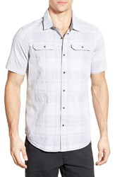 Men's Prana 'Marvin' Plaid Organic Cotton Sport Shirt Silver