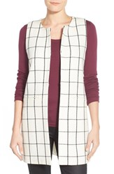 Women's Sanctuary 'Essential City' Windowpane Long Vest