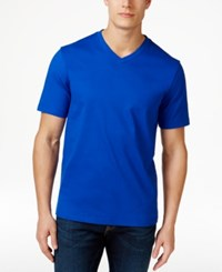Club Room Men's Cotton V Neck T Shirt Only At Macy's Lazulite