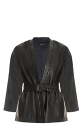 Adam By Adam Lippes Kimono Leather Jacket Black
