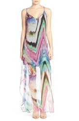 Women's Charlie Jade Print Silk Chiffon Maxi Dress