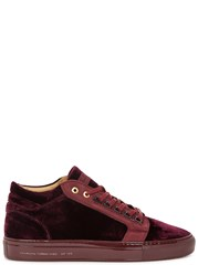 Android Propulsion Wine Velvet Trainers Red