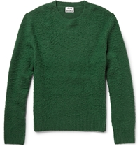 Acne Studios Peele Textured Wool And Cashmere Blend Sweater Green