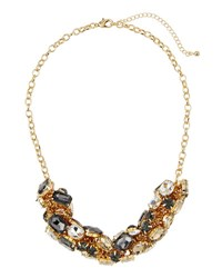Fragments For Neiman Marcus Mixed Crystal Statement Necklace Gold