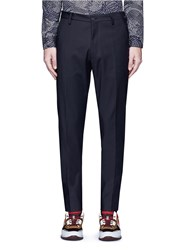 Kenzo Stretch Cotton Blend Pants Black