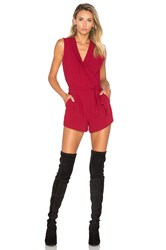 Lovers Friends Distance Romper Red