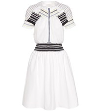 Peter Pilotto Ammos Smocked Cotton Dress White