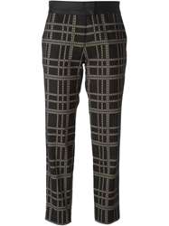 Thakoon Addition Printed Cropped Trousers Black