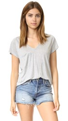 Haute Hippie V Pocket Tee Light Heather Grey
