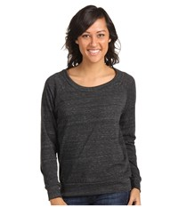 Alternative Apparel Eco Heather Slouchy Pullover Eco Black Women's Long Sleeve Pullover
