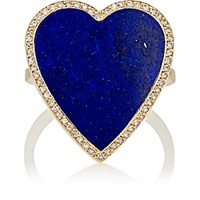 Jennifer Meyer Women's White Diamond And Lapis Lazuli Heart Ring No Color