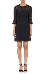 Barneys New York Women's Corded Lace Sheath Dress Black
