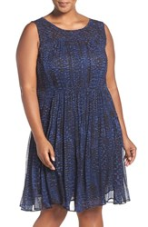 Lucky Brand Plus Size Women's Geo Print Sleeveless Dress