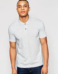 Jack And Jones Jack And Jones Polo Shirt With All Over Jacquard White