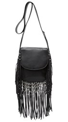 Ash Laurel Fringe Cross Body Bag Black