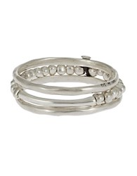 Uno De 50 Three Pack Bangle Set Silver