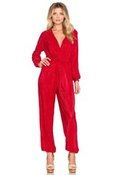 Oh My Love Stay Another Day Pleated Jumpsuit Red