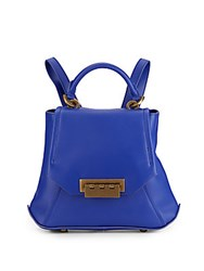 Zac Posen Leather Backpack Cobalt