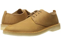 Clarks Desert London Mustard Leather Men's Lace Up Casual Shoes Yellow