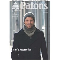 Patons Men's Hat And Scarf Knitting Pattern