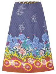 White Stuff Salsa Reversible Skirt Dahlia Purple