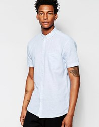 Minimum Short Sleeve Chambray Shirt Grey