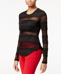 Rachel Roy Striped Lace Top Only At Macy's Black