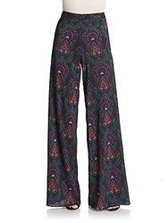 Alice Olivia Printed Wide Leg Pants Ombre Deco