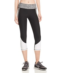 X By Gottex Space Dye Colorblock Capri Active Leggings Compare At 64 Black White