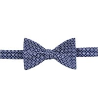 Thomas Pink Taunton Print Self Tie Bow Tie Navy Blue