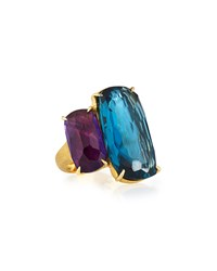Marco Bicego 18K Cushion Cut Amethyst And Topaz Cocktail Ring Women's