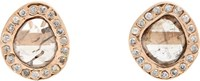Dezso By Sara Beltran Mixed Diamond Studs Colorless