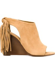 Chloa Wedge Sandals Nude And Neutrals