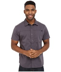 Black Diamond Short Sleeve Stretch Operator Shirt Slate Men's Clothing Metallic